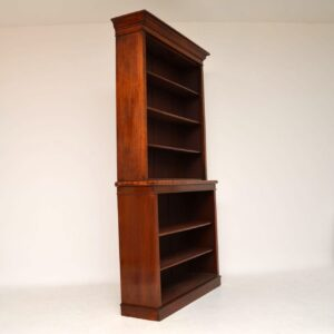 Antique Early Victorian Mahogany Open Bookcase