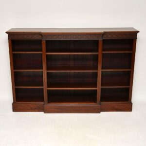 Antique Victorian Mahogany Open Bookcase