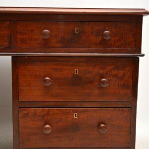 Antique Victorian Mahogany Partners Desk