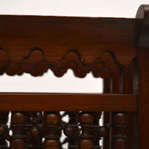 Antique Victorian Mahogany Revolving Canterbury
