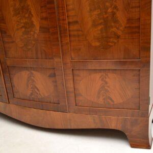 Large Antique Edwardian Inlaid Mahogany Wardrobe