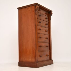 Antique Victorian Mahogany Wellington Chest of Drawers