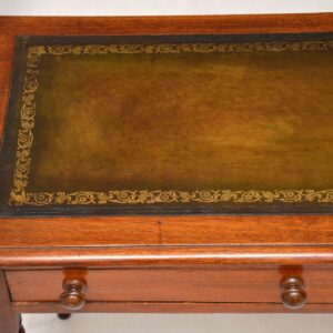 Antique Victorian Mahogany Writing Table / Desk