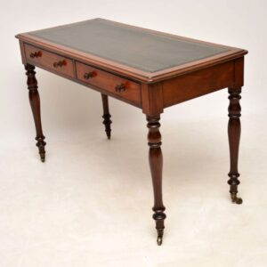 Antique Victorian Leather Top Mahogany Writing Table / Desk