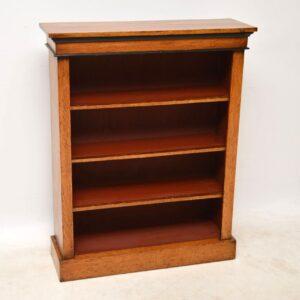Antique Victorian Oak Open Bookcase