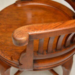 Antique Victorian Swivel Desk Chair