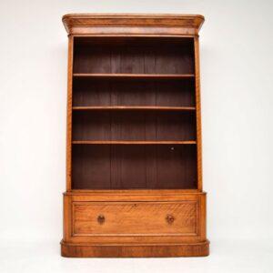 Antique Victorian Satinwood Bookcase