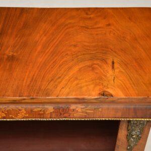 Antique Victorian Figured Walnut Open Bookcase