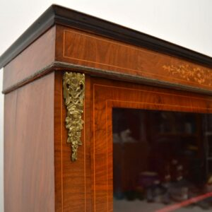 Antique Victorian Inlaid Walnut Pier Cabinet