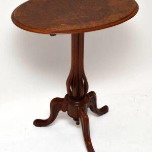 Antique Victorian Burr Walnut Tilt Top Table