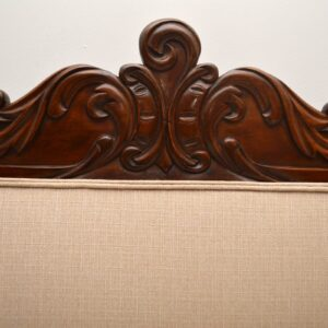 Antique William IV Carved Mahogany Upholstered Sofa