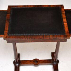 Antique William IV Rosewood Leather Top Side Table