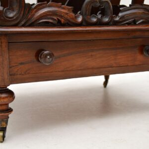 Antique Late Regency Rosewood Canterbury