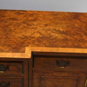 Small Antique Burr Walnut Breakfront Sideboard