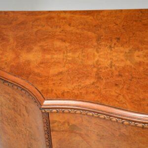 Antique Queen Anne Style Burr Walnut Cabinet