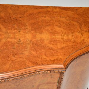 Antique Queen Anne Style Burr Walnut Cabinet