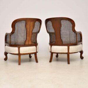 Antique Walnut Caned Bergere Sofa & Pair of Armchairs