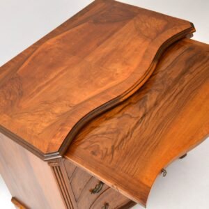 Antique Serpentine Fronted Burr Walnut Chest of Drawers