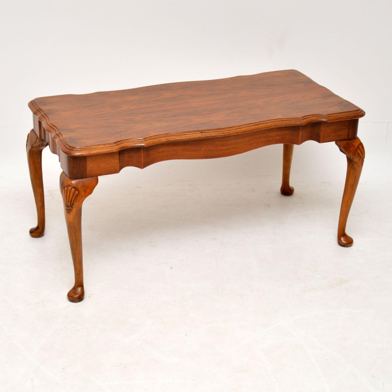Antique Figured Walnut Coffee Table