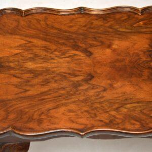 Antique Burr Walnut Pie Crust Coffee Table
