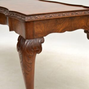 Antique Burr Walnut Queen Anne Style Coffee Table