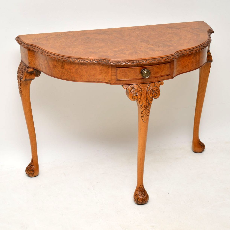 Antique Burr Walnut Console Table