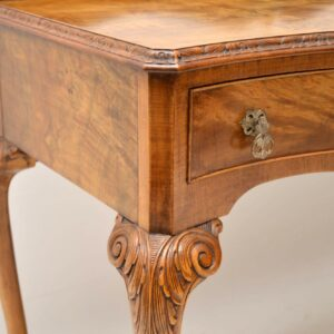Antique Burr Walnut Console / Server Table