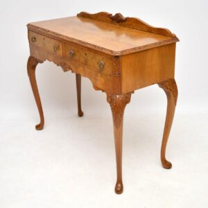 Antique Burr Walnut Server Table