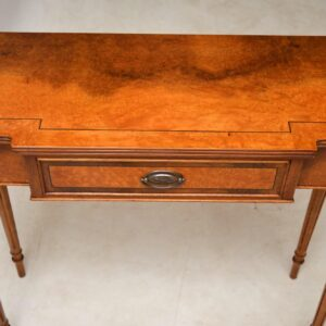 Antique Burr Walnut Console Table