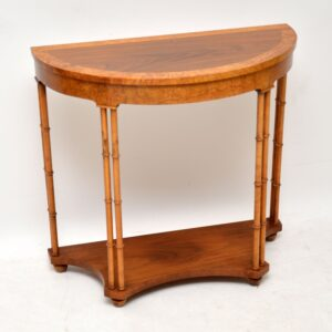 Antique Walnut & Elm Console / Side Table