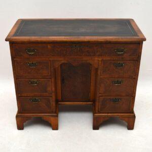 Antique Burr Walnut Knee Hole Desk