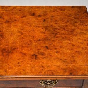 Antique Queen Anne Style Burr Elm Lowboy Side Table