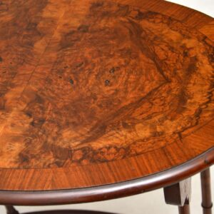 Antique Burr Walnut Nest of Four Tables