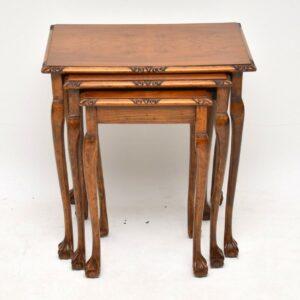 Antique Figured Walnut Nest of Tables