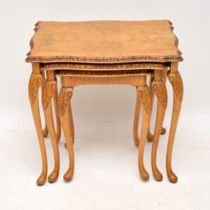 Antique Queen Anne Style Walnut Nest of Tables