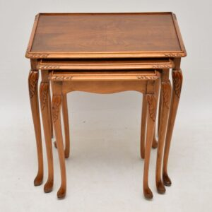 Antique Walnut Nest of Three Tables