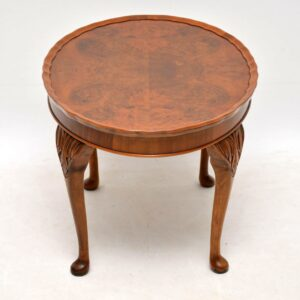 Antique Burr Walnut Pie Crust Coffee Table