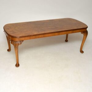 Antique Queen Anne Style Walnut Dining Table