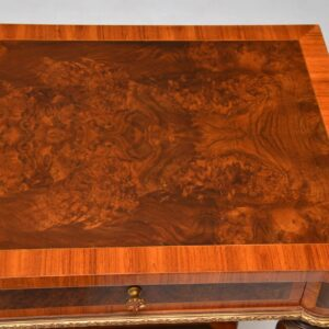 Very Large Antique French Burr Walnut Console Table