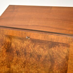 Antique Burr Walnut Writing Bureau