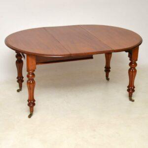 Antique William IV Round Extending Mahogany Dining Table