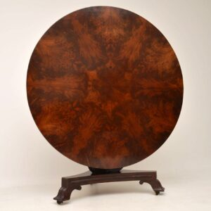 Antique Regency Mahogany Tilt Top Breakfast Table
