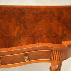 Antique Yew Wood Console Table