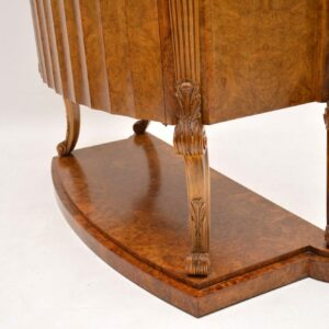Art Deco Burr Walnut Cocktail Cabinet by H & L Epstein