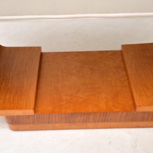 Original Art Deco Burr Maple & Walnut Stool