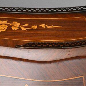 Antique French Bureau De Dame - Kingwood, Rosewood, Marquetry