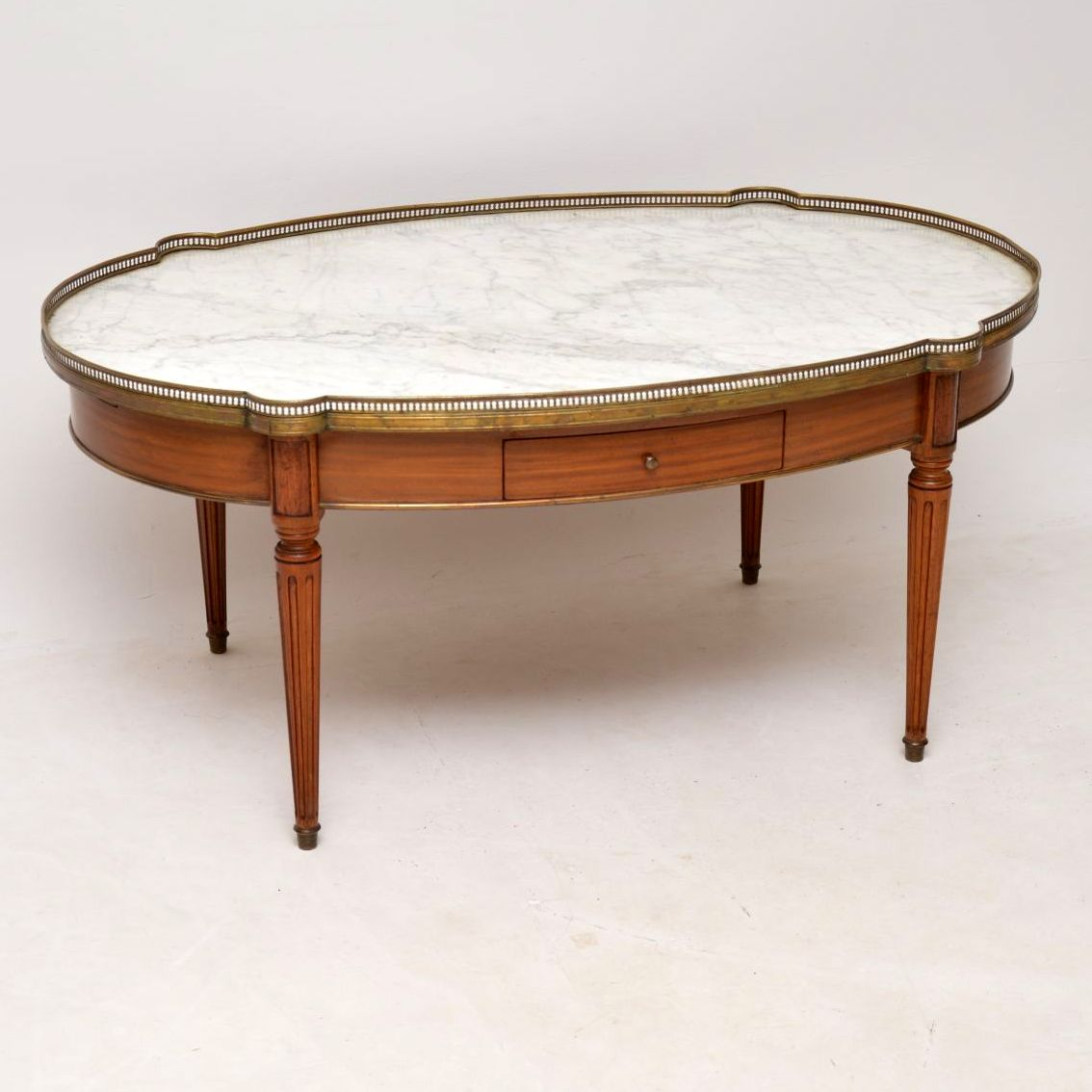 Large Antique French Marble Top Coffee Table