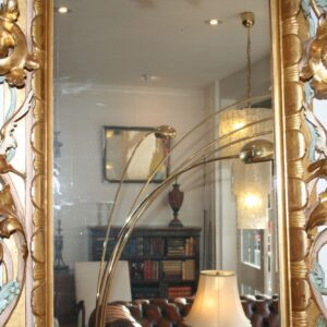 Large Antique Venetian Gilt Wood Mirror