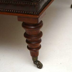 Leather Deep-Buttoned Stool Coffee Table