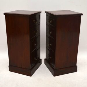 Pair of Antique Solid Walnut Bedside Chests